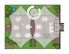 outdoor wedding floor plan